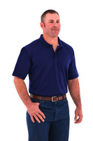 Noble Outfitters 12500-731 Mens Coolflo Performance Deep Water BluePolo Shirt