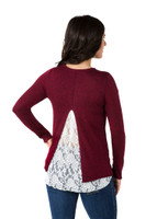 Noble Outfitters 27006-441 Women's Tory Lace Sweater