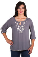 Noble Outfitters 21026-031 Womens Jolene Peasant Top Shirt