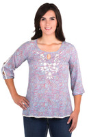 Noble Outfitters 21026-714 Womens Jolene Peasant Top Shirt
