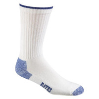 Bates Footwear Cotton Comfort Crew White 3 Pk Large Socks Made in the USA