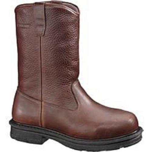"Wolverine W01671 Mens Fusion Met Guard 10"" Electrical Hazard Steel-Toe Wellington Boot"