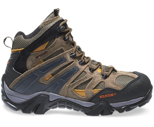 Wolverine W05745 Mens Wilderness Waterproof Rugged Lightweight Hiker Boot