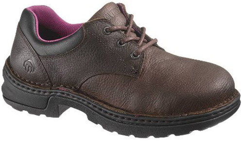 Wolverine W10200 Womens Betty Safety Toe Brown Leather Work Shoe