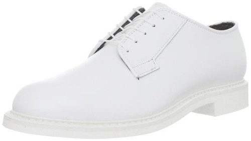 Bates 131-B Mens Lites White Leather Naval Oxford Shoe