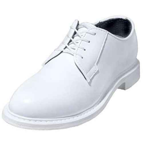 Bates 7131-B Womens Lites White Leather Naval Oxford Shoes