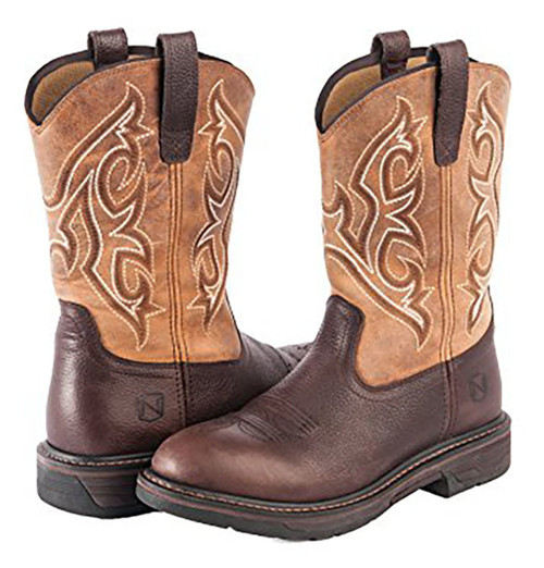 Noble Outfitters Work Boots Mens Ranch Tough Round Tobacco
