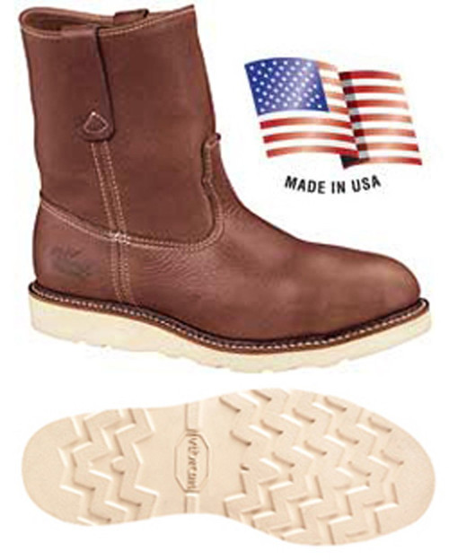 Thorogood 814-4373 Mens American Heritage Soft Toe Wellington Boot