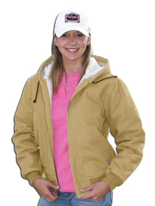 Walls 35180WCS Womens Heavy Weight 100% Cotton Insulated Sherpa Hooded Jacket