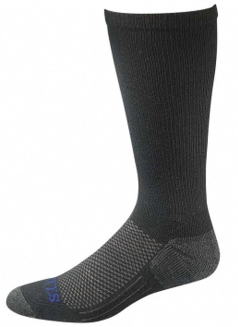 Bates Moisture Wicking Coolmax Performance Large Black Sock 1 Pack Made in the USA