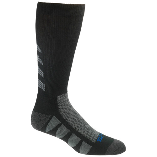 Bates Footwear EPS Moisture Wicking Black 2 Pk Large Socks