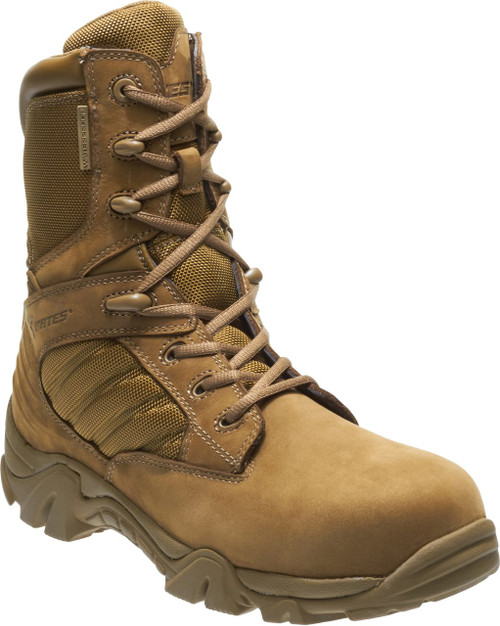 Bates Men's GX-8 Waterproof Composite Toe Side Zip Military and Tactical Boot, Coyote