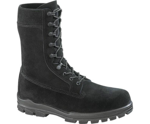 "Bates 1421 Mens 9"" US Navy Suede Durashocks Steel Toe Boot"