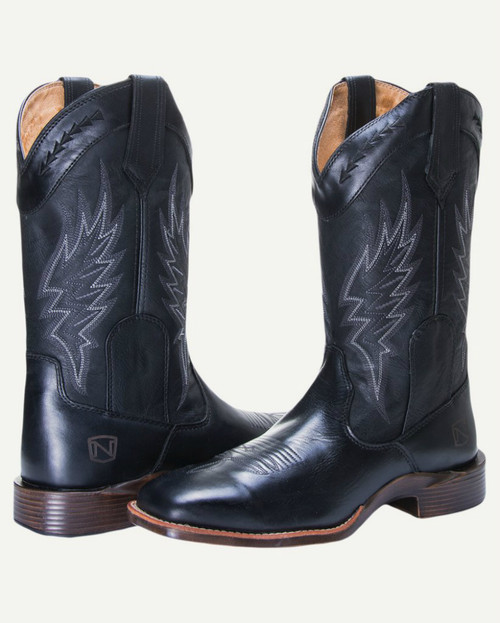 Noble N65005-019 Mens Black All-Around Square Toe Boot