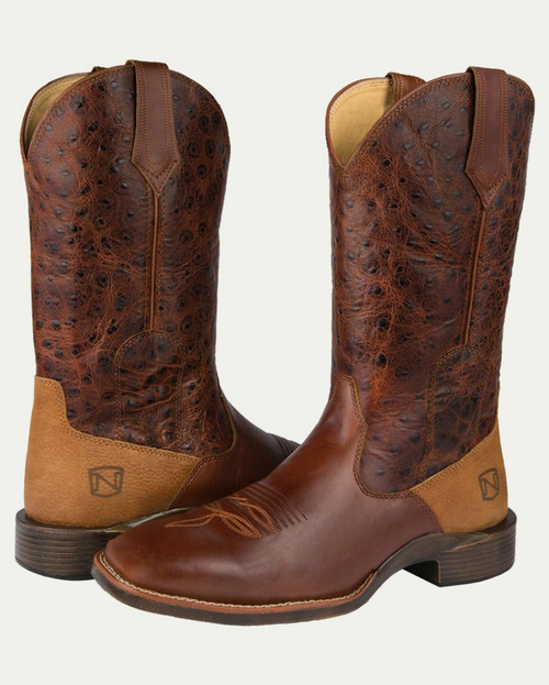 Noble N65020-135 Mens Distressed Oak Rare Breed All-Around Square Toe Boot