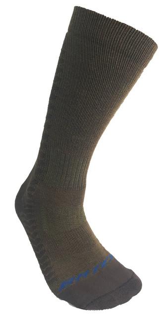 Bates Mens Mid Calf Side Cushion Brown Large Mens Shoe Size 10-13 1 Pack Sock