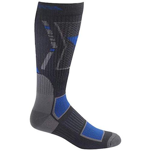 Bates Mens 1PK Vented Mid Calf Socks Black Large Mens Shoe Size 10-13 1 Pack