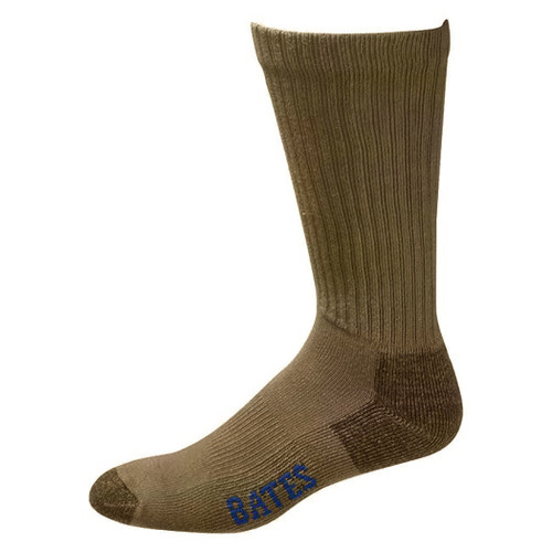 Bates Footwear Cotton Crew Coyote Brown 3 Pk Socks