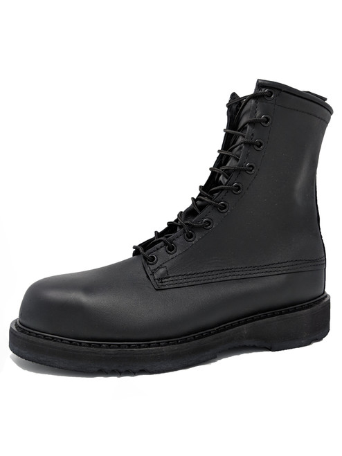 "Bates 1950 Mens 8"" Army/Navy Black Steel Toe Boot"
