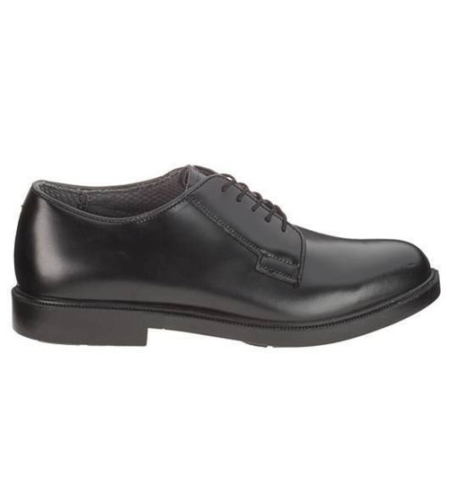 Bates 112 Mens Durashocks Black Leather Uniform Oxford Shoe
