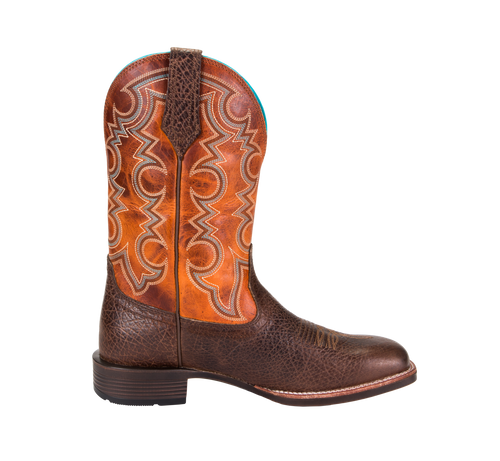 Noble 65026-132 Mens All Around Cowboy Brown Pumpkin Boot