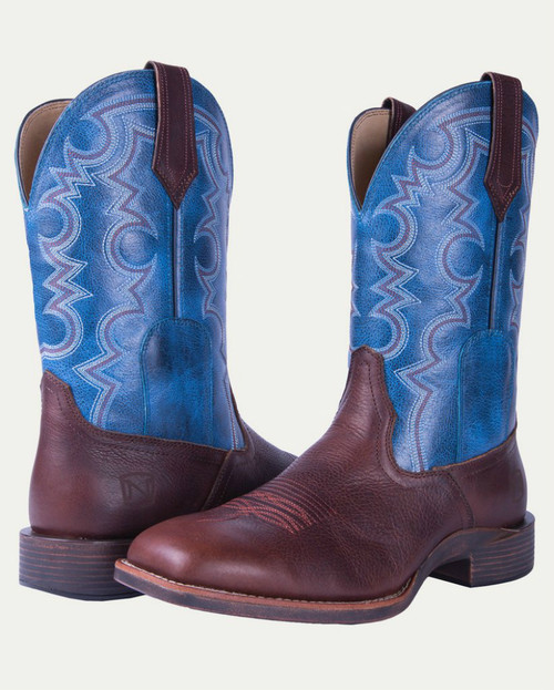 Noble N65026-142 Mens Adobe/Blue Authentic All-Around Square Toe Boot