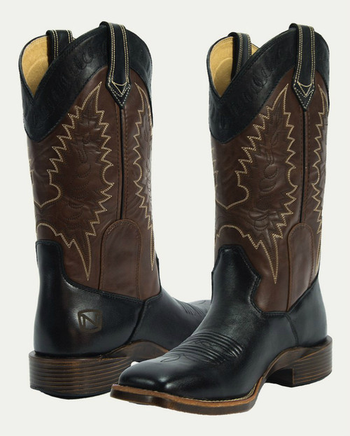 Noble N66004-019 Womens Black/Mahogany All-Around Square Toe Boot