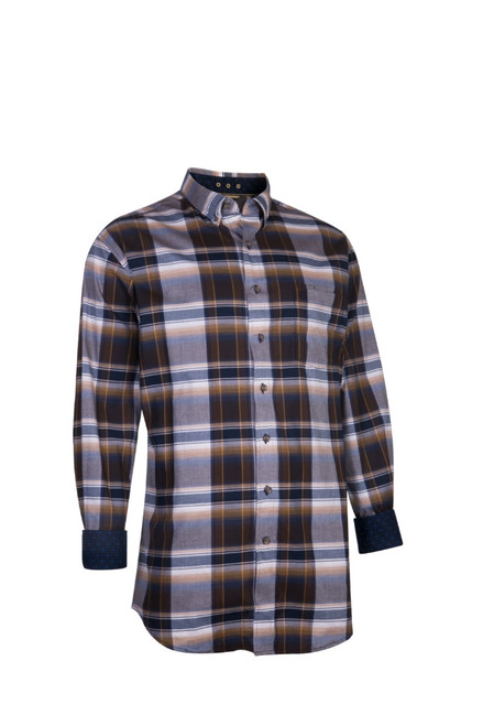 Noble Outfitters 11002-874 Mens Generations Fit Ombre Plaid Long Sleeve Western Shirt