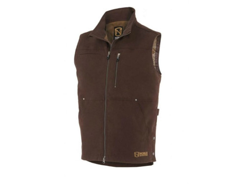 Noble Outfitters 18002-130 Mens Ranch Tough Canvas Dark Chocolate Vest