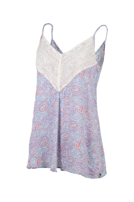 Noble Outfitters 20002-714 Womens Blue Paisley Peyton Tank Shirt