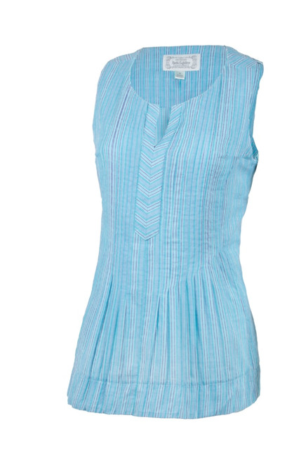 Noble Outfitters 20003-833 Womens Island Blue Krystal Tank Top Loose Fit Shirt