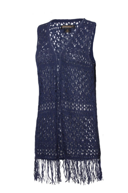 Noble Outfitters 20510-724 Womens Navy Arizona Knit Vest