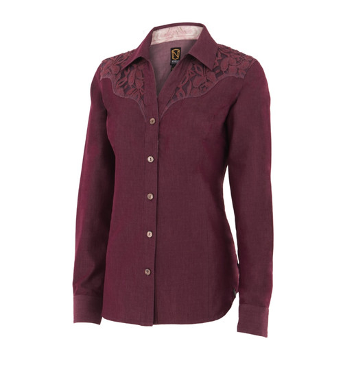 Noble Outfitters 21005-672 Womens Bluegrass Button Lace Shirt
