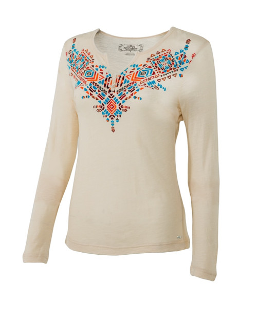 Noble Outfitters 21529-011 Womens Free Spirit Henley Shirt