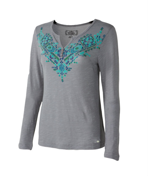 Noble Outfitters 21529-014 Womens Free Spirit Henley Shirt