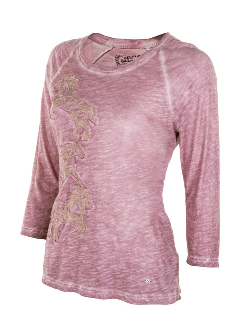 Noble Outfitters 21530-441 Womens Washed Horses Shirt
