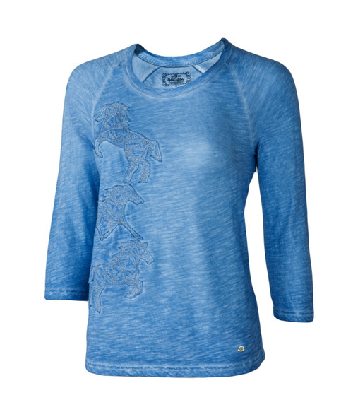 Noble Outfitters 21530-774 Womens Washed Horses Shirt