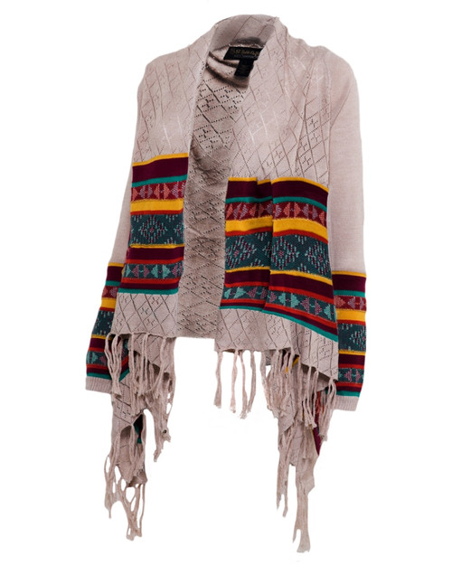 Noble Outfitters 27005-999 Womens Frontier Fringe Cardigan