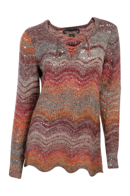 Noble Outfitters 27009-411 Womens Denver Pointelle Pullover