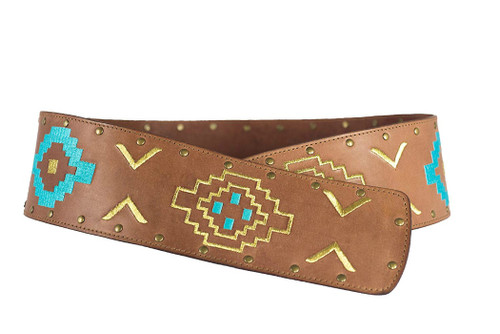 Noble Outfitters 29514-126 Womens Aztec Wrap Belt