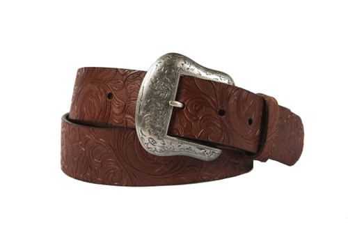 Noble Outfitters 29529-126 Womens Floral Embossed Belt