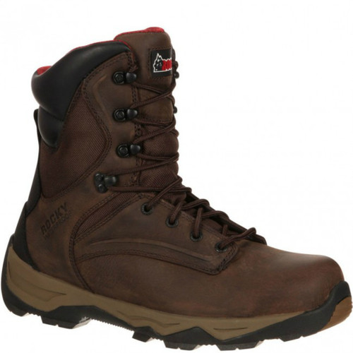 "Rocky RKK0118 Mens 8"" Retraction Waterproof Slip-Resistant Lugged Outsole Work Boot"