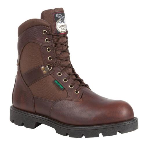 Georgia G110 Mens Homeland 8'' Steel Toe Waterproof Insulated Work Boot