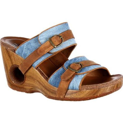 Rocky 4EurSole RKH095 Womens Splendor Double Strap Slide Sandal