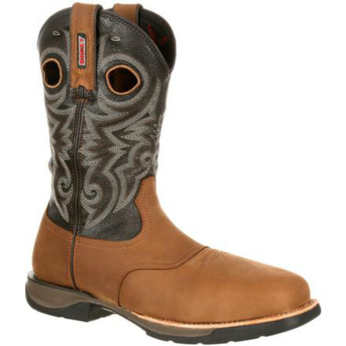 "Rocky RKW0156 Mens 11"" Lt Composite Toe Waterproof Saddle Western Boot"