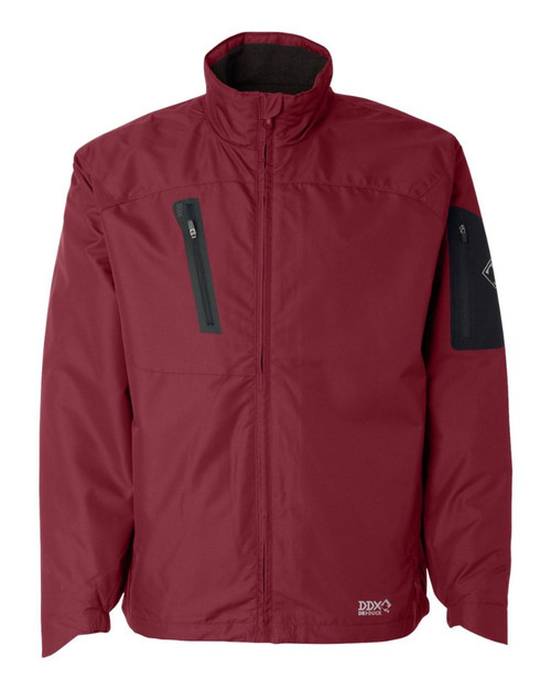 "DRI Duck 5320 Men's ""Glacier"" Rip-Stop Jacket Garnet Red"
