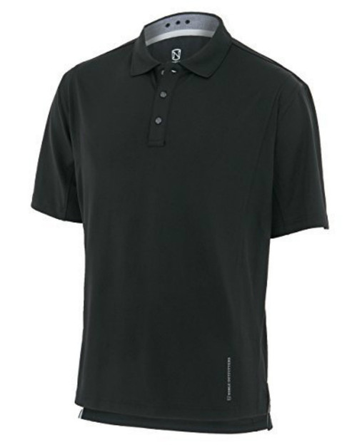 Noble Outfitters 12500-019 Mens Coolflo Performance Black Polo Shirt