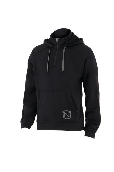 Noble Outfitters 18502-019 Mens Warmwear Quarter Zip Black Hoodie Jacket