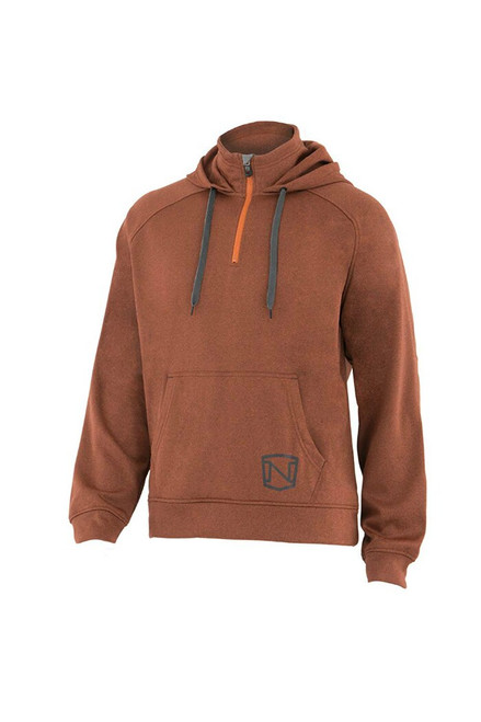 Noble Outfitters 18502-313 Mens Warmwear Quarter Zip Rust Hoodie Jacket
