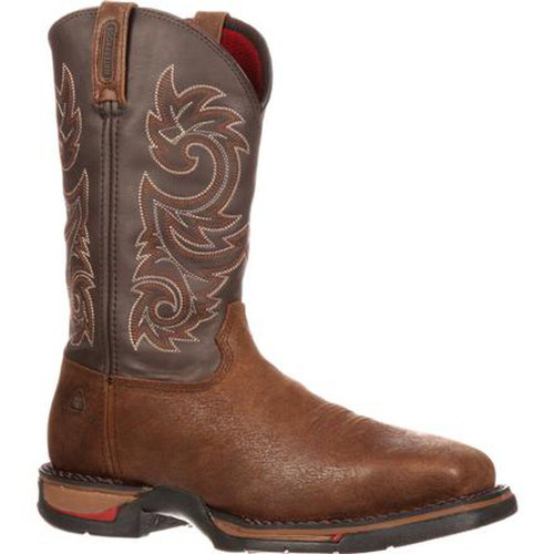 Rocky 6654 Mens Steal Toe Dark Brown Western Boots